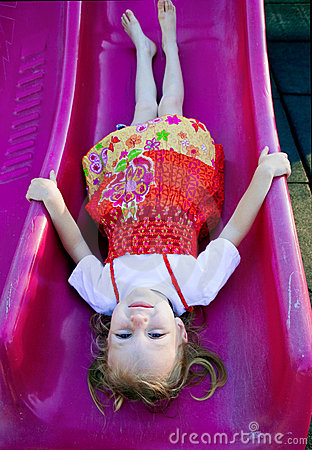Upside down on the slide