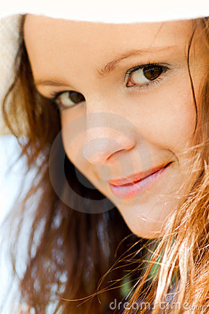 Smiling teen portrait