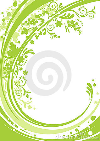 Green foral background