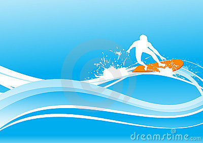 Surfing on blue wave