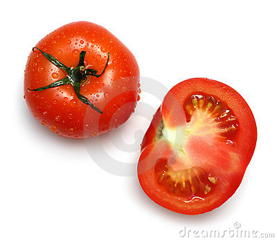 Whole and section tomatoes