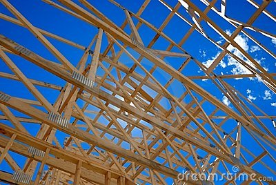 Framing of home roof
