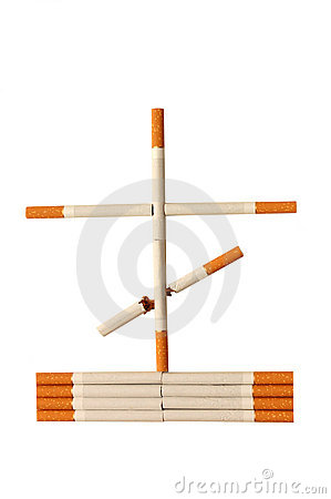Stop smoking concept - danger of cigarettes