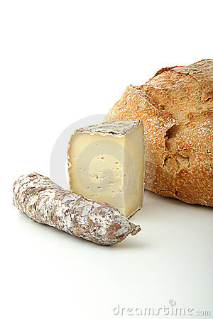 Cheese,bread,sausage