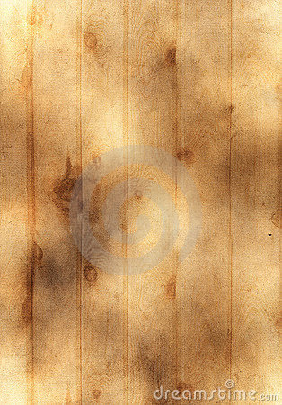 Old yellow paper background with wooden texture