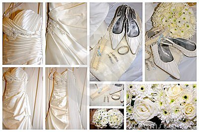 Brides items collage