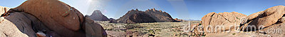 Panoramic view at Spitzkoppe, Namibia