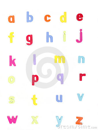 Alphabet, ABC, Colorful Set of Letters