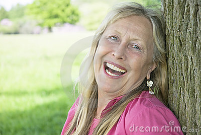 Happy laughing woman.