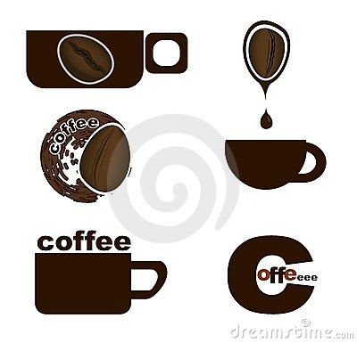Coffee cup with coffee bean