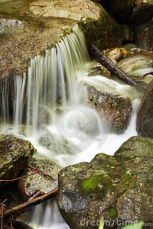 Water of a mountain stream
