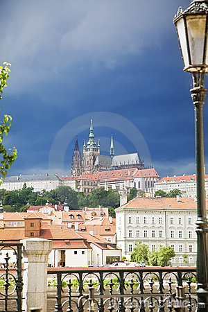 Prague under cloudscape