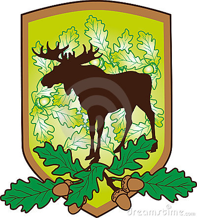 The arms with an elk