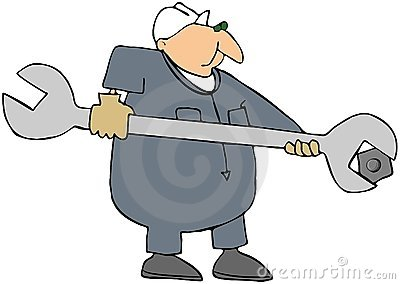 Man With A Giant Wrench