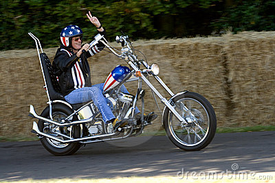 Peter Fonda on Easy Rider Chopper