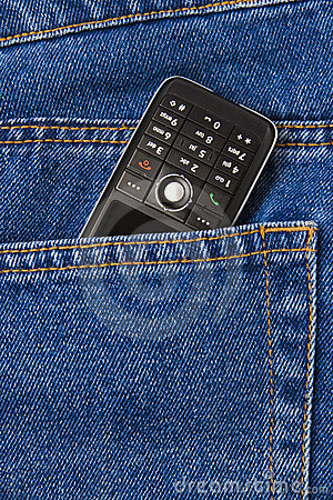 Cellphone in jeans