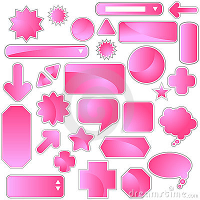 Label Set - Pink