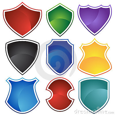 Set of 9 Shields