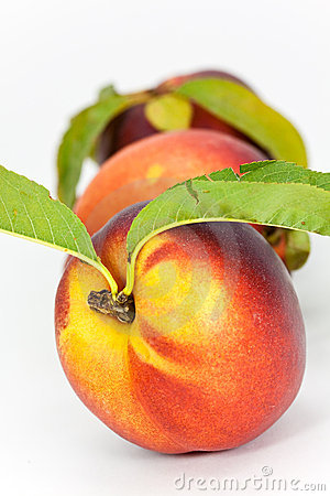 Fresh ripe peach , close up