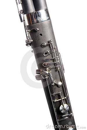 Bassoon Close Isolated on White