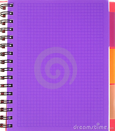 Violet squared notebook sheet