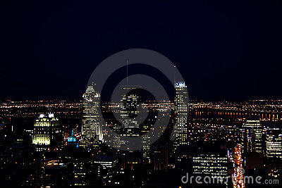 Montreal night scene