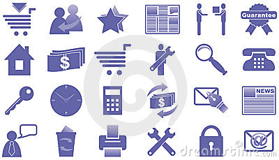 Icons for Internet and Website.