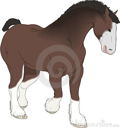 Beautiful drawing, horse of farm