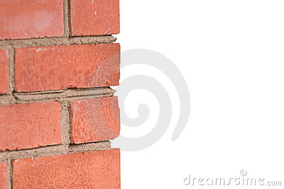 Fragment of a red brick wall