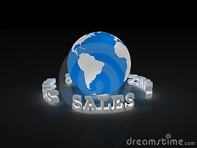 Sales sign around Earth