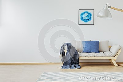 Room with jean blue accent