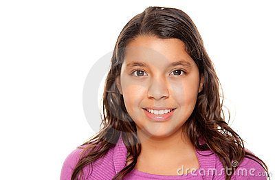 Pretty Hispanic Girl Portrait