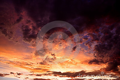 Colorful stormy sky