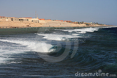 Waves on Red Sea