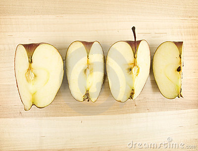 Sliced apple four ways