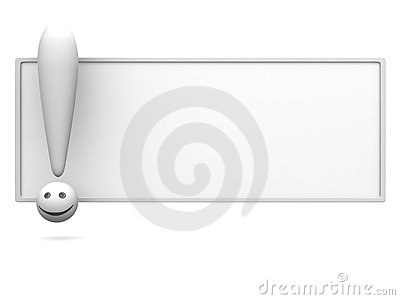 Empty board with exclamation mark