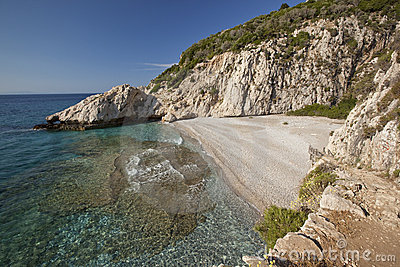 Beach Micro Seitani in island Samos - Greece