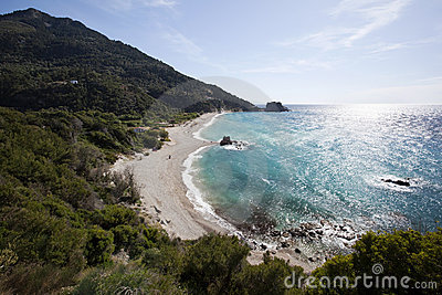 Beach Potami in island Samos in Greece
