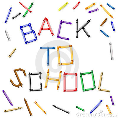 Back to school crayon sign