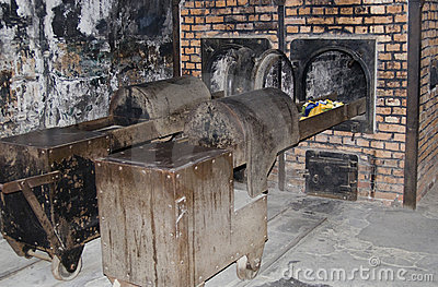 Oven for incineration in Auschwitz - Birkenau camp