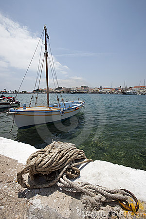 Port in Karlovassi in Greece - island Samos