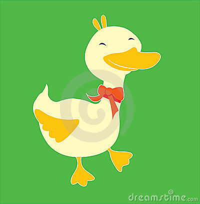 Little Duck with red bow