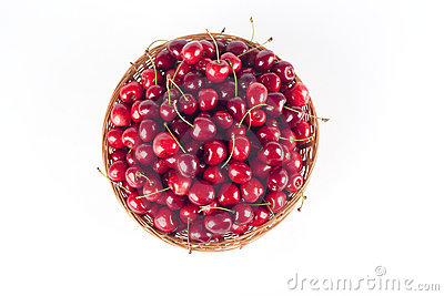 Basketfull of cherries