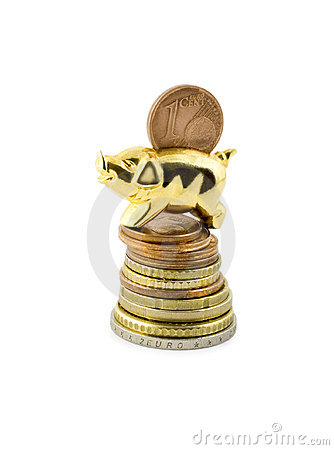 Pig on stack coin