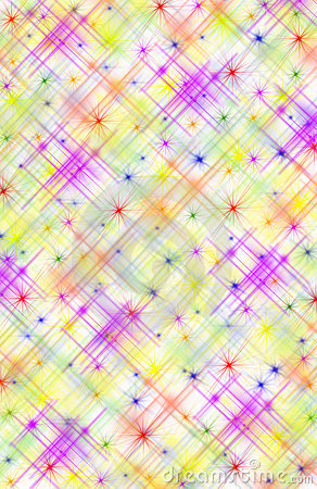 Abstract Multicolored Background with Stars