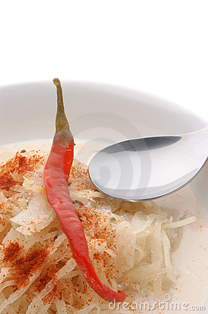 Sauerkraut soup with paprika powder
