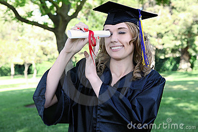 Pretty Graduation Woman