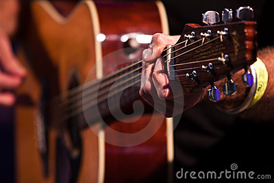 Guitarist hand with an classical guitar 2.