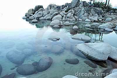 Clear Water And Granite Boulders