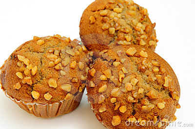Banana Muffin With Waluts